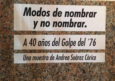 MODOS DE NOMBRAR Y NO NOMBRAR